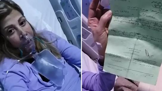 بالفيديو/ مصابة بكورونا تناشد.. ابنها حصل على إذن ليحضر لها أغراضها للمستشفى إلا أنه نال محضر ضبط!