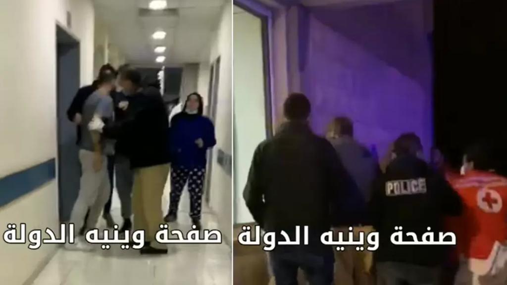 بالفيديو/ شجار بين طبيب ومتطوعين في الصليب الأحمر على خلفية محاولة إدخال مريضة في قبرشمون بسبب الإكتظاظ في المستشفيات!