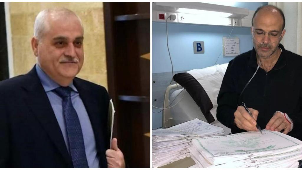 """جبق تعليقاً على صورة وزير الصحة في المستشفى وهو يوقّع أوراقاً رسمية: """"لم أرَ الصورة لكن يُفترض به عدم توقيع أوراق رسمية وهو مصاب"""""""