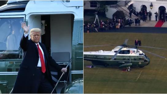 بالفيديو/ لحظات مغادرة ترامب البيت الأبيض بعد انتهاء ولايته الرئاسية: أتمنى أن لا يطول الوداع