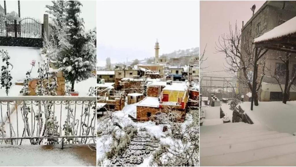 بالفيديو والصور/ العاصفة تشتد وتبلغ ذروتها.. الثلوج لامست الـ 500 متر والسيول غمرت المزروعات في مختلف المناطق ورفعت منسوب الانهر