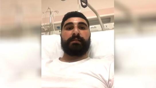 بالفيديو/ بعد 10 أيام في العناية الفائقة اثر عملية زراعة القلب، رسالة مَحبة للشاب أحمد دلباني لكل من سانده