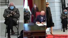 صورة السيناتور الأميركي بيرني ساندرز وقفازات الصوف تشغل الأميركيين بعد حفل التنصيب أمس وتتصدر التريند
