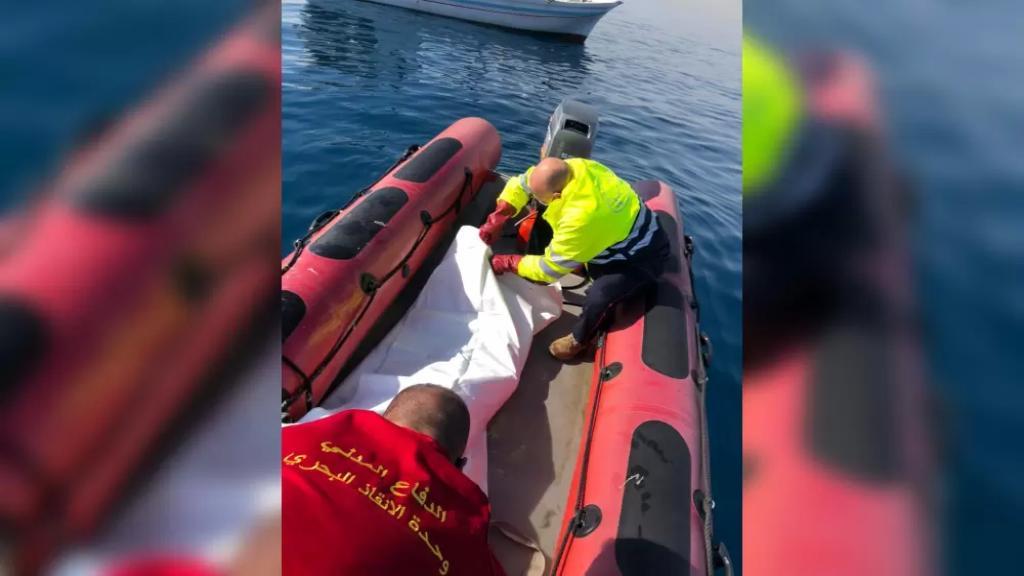 انتشال جثة مواطن مجهول الهوية من البحر قبالة برج الفيدار - جبيل في العقد السادس من العمر