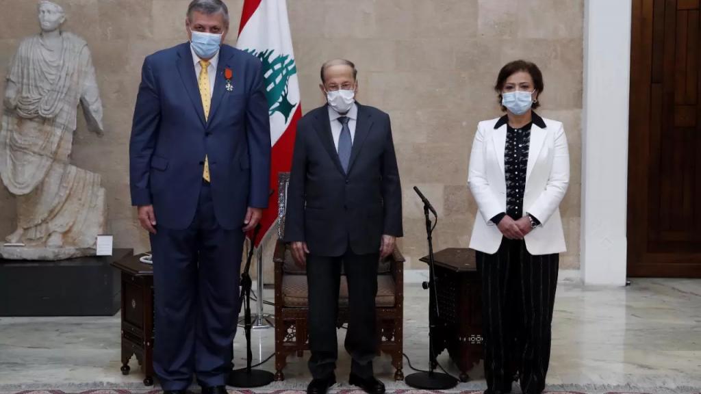 الرئيس عون منح كوبيتش وسام الارز الوطني تقديرا للدور الذي لعبه في تعزيز العلاقات بين لبنان والامم المتحدة