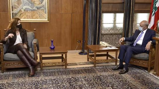 الرئيس بري استقبل السفيرة الأميركية وشدد على أهمية إستئناف مفاوضات الترسيم نظراً لأهمية النتائج المتوخاة منها للبنان ولتثبيت حقوقه السيادية وإستثمار ثرواته