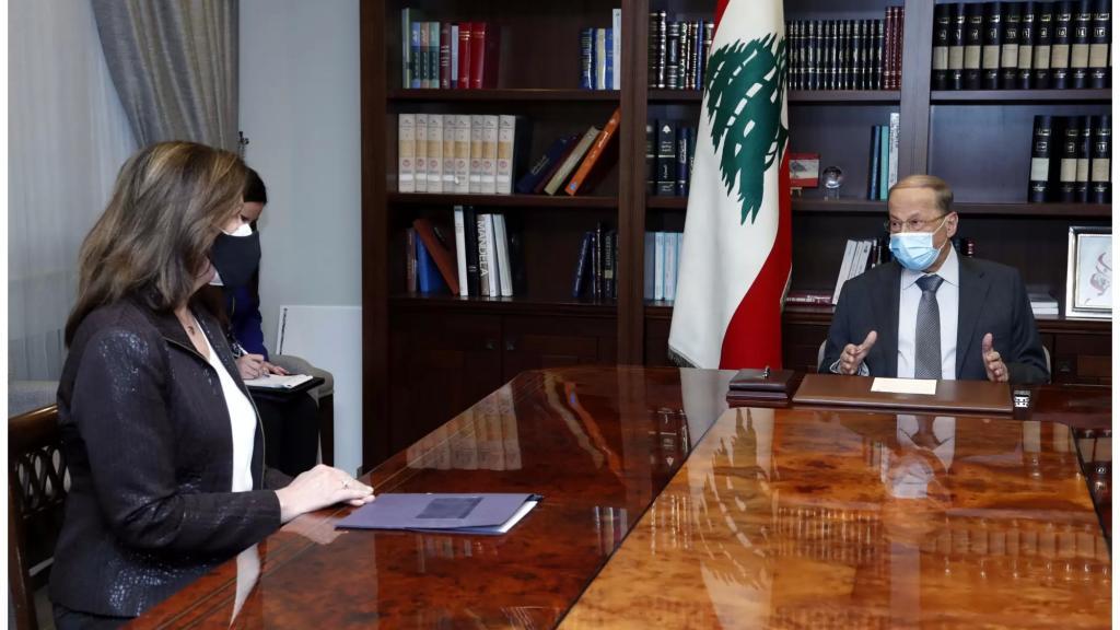 الرئيس عون استقبل سفيرة الولايات المتحدة الأميركية وبحث معها في التطورات الاخيرة ومستقبل العلاقات اللبنانية - الاميركية بعد تسلم الرئيس جو بايدن مهماته الرئاسية
