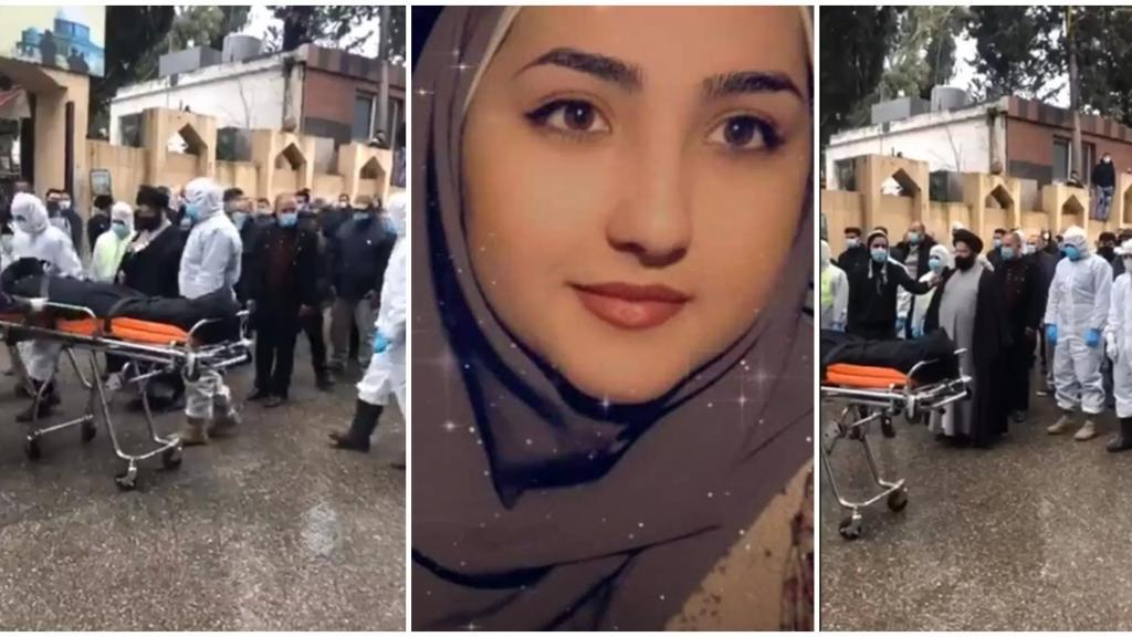 بالفيديو والصور/ بلدة مجدل سلم شيعت الشابة رشا حرز بالورد والدموع