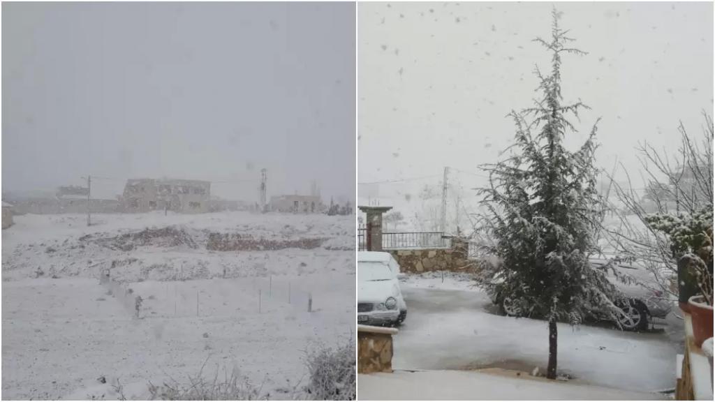 الثلج والخير يتساقط.. الزائر الأبيض غطى بعلبك صباح اليوم