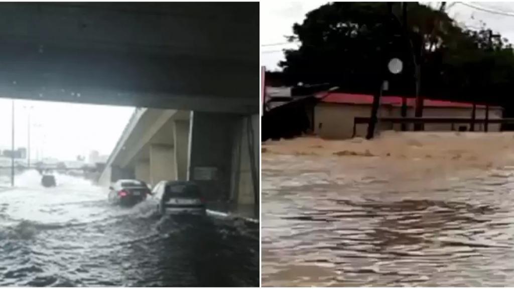 اثر الامطار الغزيرة ... الطرقات اللبنانية تغرق بالمياه من جديد ! (فيديوهات)