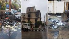 بالصور/ هكذا بدا مبنى بلدية طرابلس صباح اليوم بعد إحراقه أمس