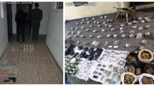 الجيش يوقف شخصين في حي السلم ويتسلم كمية كبيرة من المضبوطات كانت داخل منزل الفلسطيني الذي أطلق النار على نفسه أثناء محاولة توقيفه في مخيم برج البراجنة