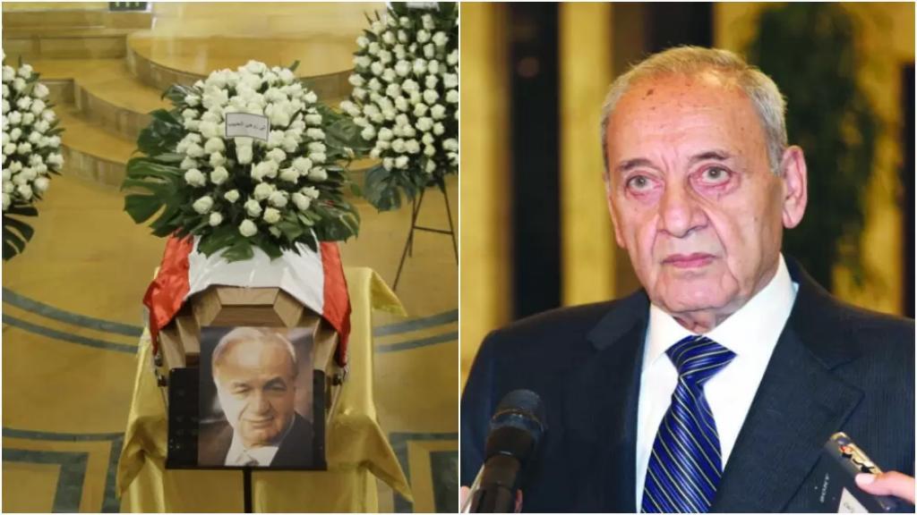 الرئيس بري في وداع المر: من صنع فرحاً وحياة وحلولاً ورؤساء.. نستودعك الله يا كبير لبنان