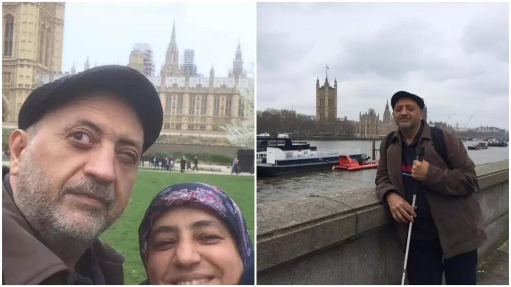 """""""عوني"""" كفيف لبناني تحدى الظلام في بريطانيا بعد رحلة نجاح شاقة"""