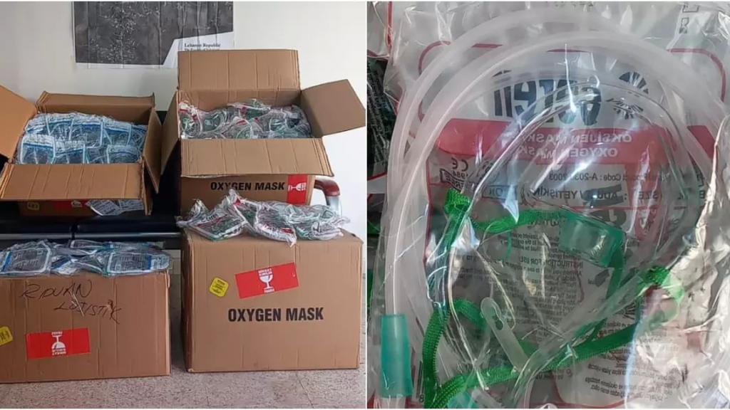 بالصور/ مغترب لبناني يقدم 1000 خرطوم لماكينات الاوكسجين التي وصلت الى مدينة بنت جبيل امس