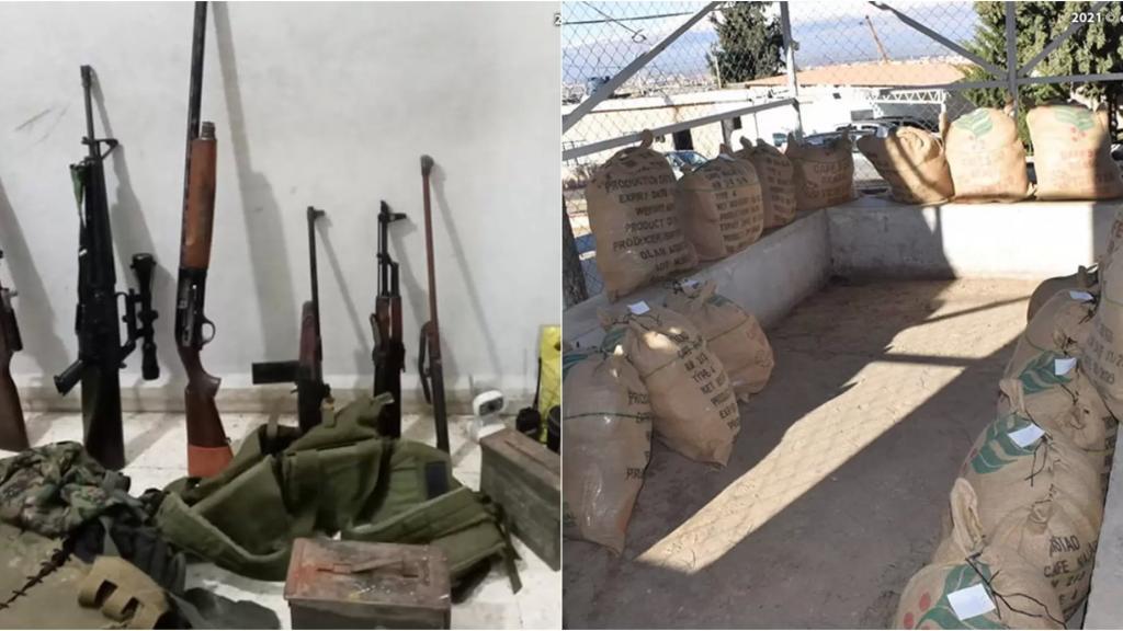 بالصور/ الجيش يداهم مطلوبين في دورس بعلبك لقيامهما بالإتجار بالمخدرات والأسلحة الحربية والذخائر وضبط كمية كبيرة من حشيشة الكيف معدة للتصدير وأسلحة