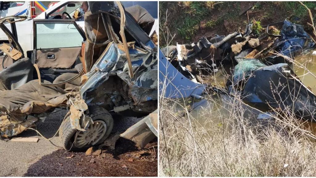 """بالصور/ قتيل بحادث سير مروع على طريق عام بلدة عميق البقاع الغربي...""""السيارتان تحولتا الى حطام"""""""