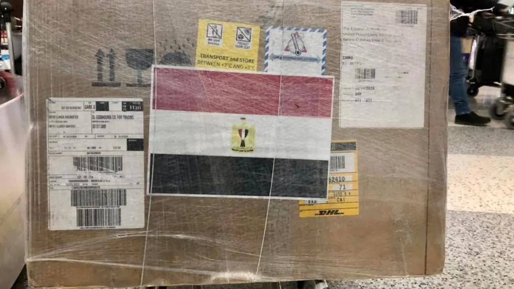 في اطار جسر المساعدات المصرية...وصول شحنة جديدة من عقار ريمديسفير المستخدم في علاج حالات كورونا المتقدمة الى مطار بيروت