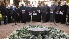 بالفيديو / مجلس عزاء حسيني وتراتيل دينية مسيحية في جنازة الناشط السياسي لقمان سليم في حارة حريك