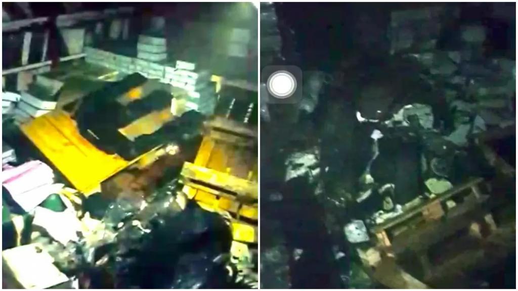 بالصور/ حريق في مخازن دار الأمير في بيروت والنيران التهمت قسمًا من الكتب