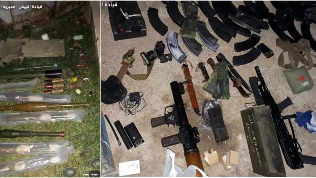 بالصور/ الجيش يداهم منزل في بعلبك ويضبط كميات من الأسلحة وقاذف آر بي جي