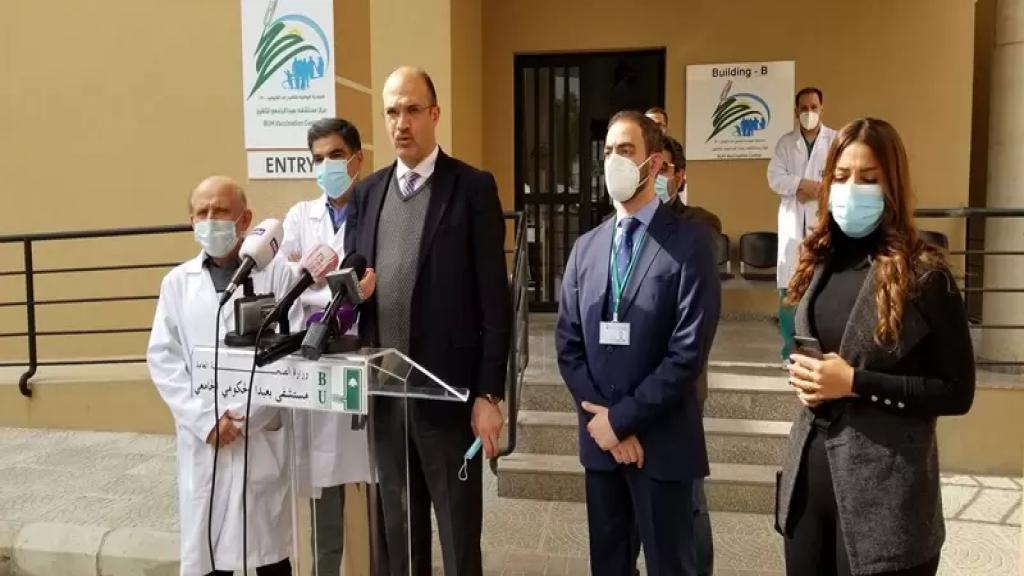 وزير الصحة من مستشفى بعبدا: بالامس عندما بدأت حملة التلقيح للمواطنين وللجسم الطبي تسجل نحو 56 الف مواطن على المنصة