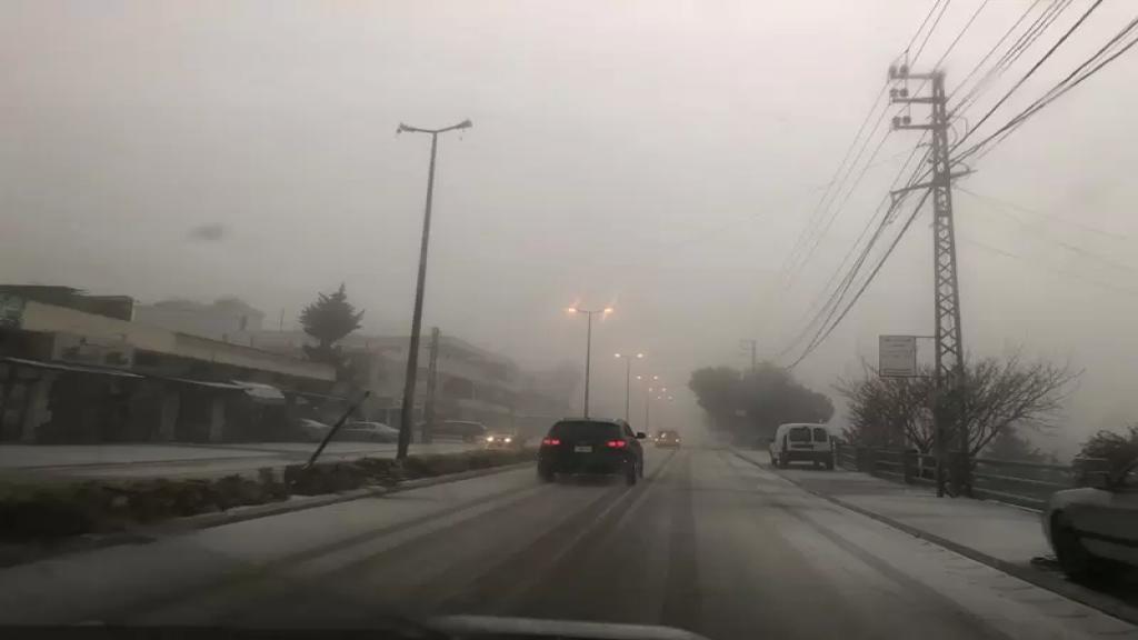 الثلج تساقط لاول مرة منذ سنين في قرى قضاء مرجعيون!