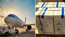 طائرة تابعة لشركة الميدل إيست ستحمل أكثر من 32000 جرعة جديدة من لقاح فايزر الى لبنان اليوم