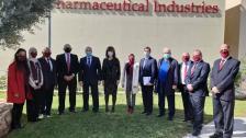 وزير الصناعة والسفير الروسي زارا مصنع أروان للدواء في جدرا للبحث في إمكان تصنيع اللقاحات