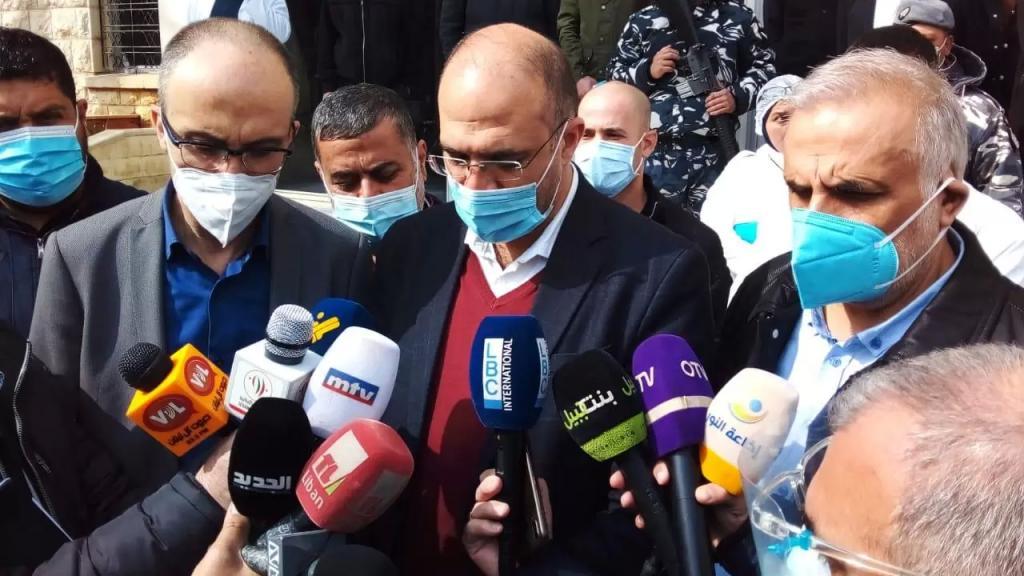 وزير الصحة يفتتح مركز التلقيح ضد فيروس كورونا في مستشفى بعلبك الحكومي