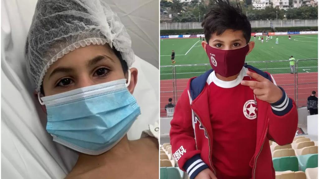 """رحلته مع السرطان انتهت... الطفل حسين قاووق:""""من شهرين كانت اخر جلسة علاج كيميائي واليوم عم اعلن انتصاري على السرطان رسمياً"""""""