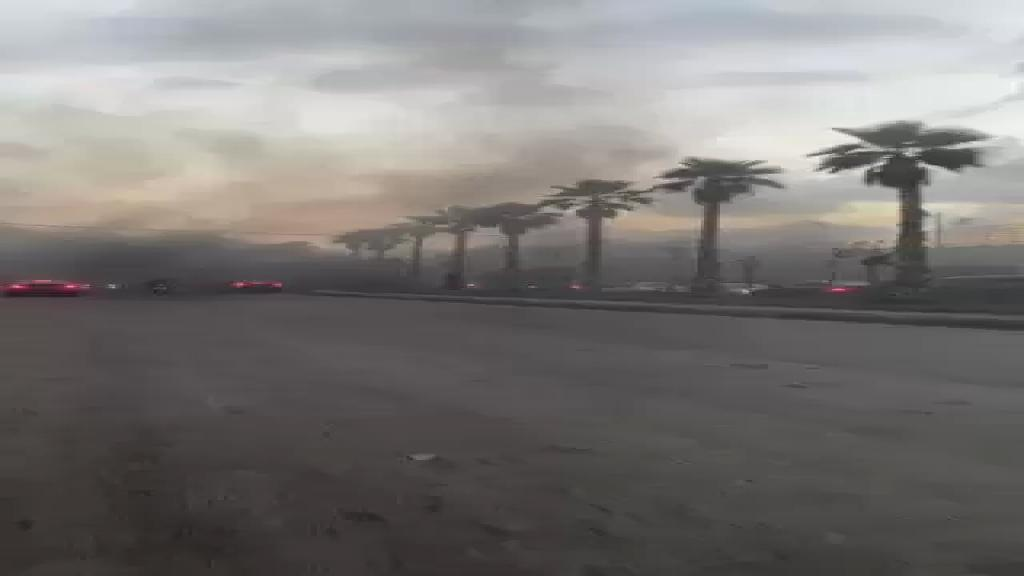 فيديو من طريق المطار قرب مسجد رسول الاعظم (ص)