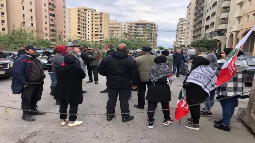 اعتصام أمام السرايا وقصر العدل في طرابلس
