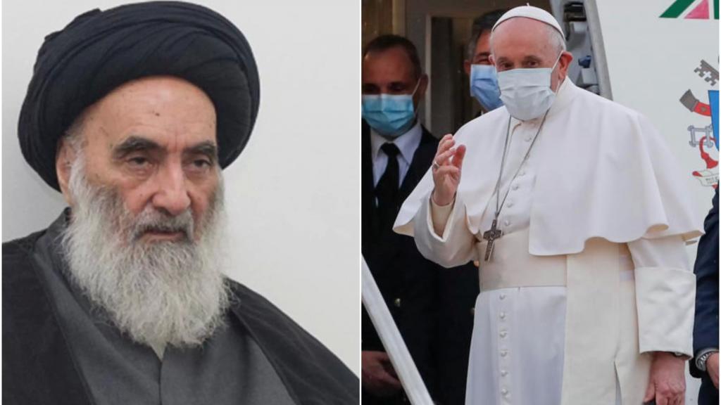 البابا سيلتقي في النجف المرجع الامام السيد علي السيستاني