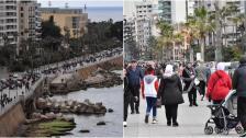 بالصور/ الكورنيش البحري يشهد زحمة مواطنين اليوم الاحد