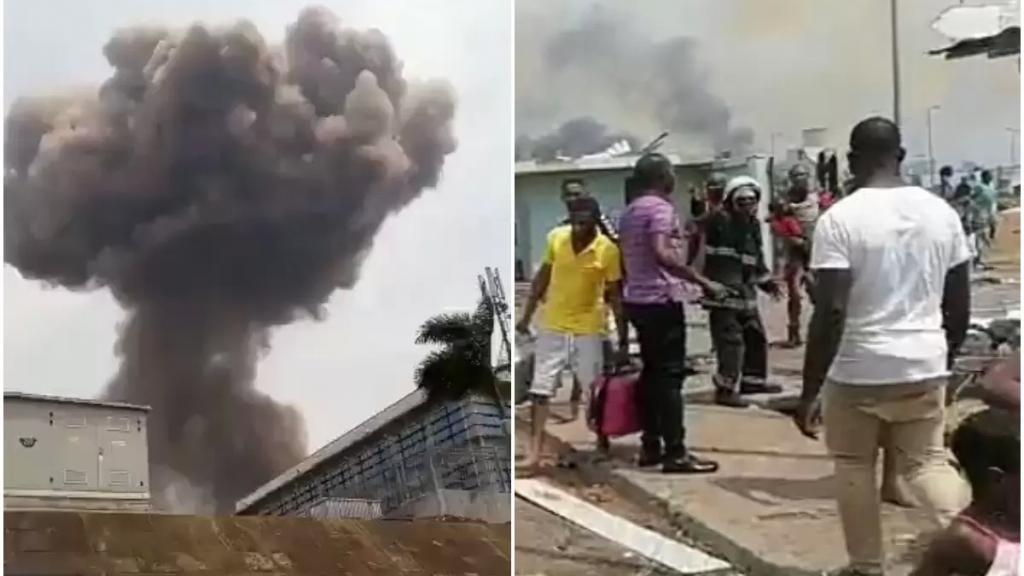 بالفيديو/ أربعة انفجارات ضخمة في قاعدة عسكرية هزت مدينة باتا في غينيا الاستوائية اليوم الأحد