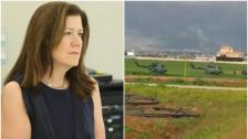 بالفيديو/ وسط إجراءات أمنية مشدّدة..  السفيرة الأميركية وصلت على متن طوافة إلى بلدة غزة البقاعية