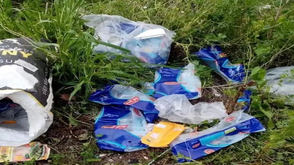 العثور على أكياس فارغة لبضائع مدعومة في خراج بلدة انصارية