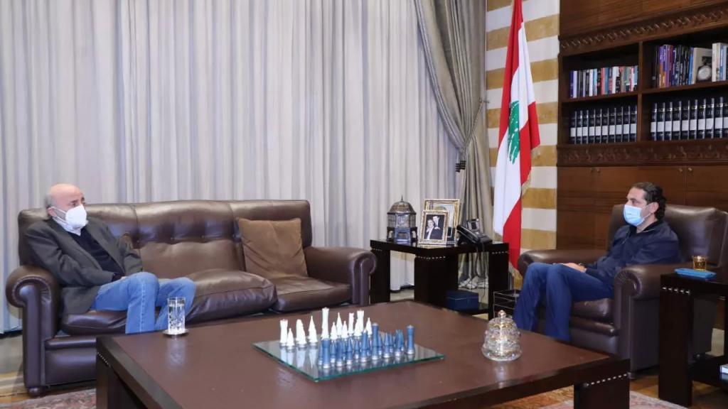 الحريري استقبل جنبلاط في بيت الوسط للبحث في آخر المستجدات السياسية والأوضاع العامة