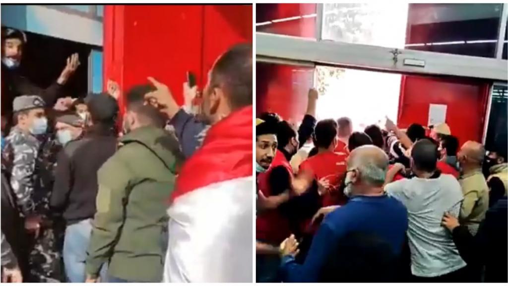 بالفيديو/ اشكال كبير في سوبرماركت فهد في بيروت بين مجموعة من المحتجين تطالب بالكشف على المستودعات والمواد المدعومة وإدارة وموظفي السوبرماركت