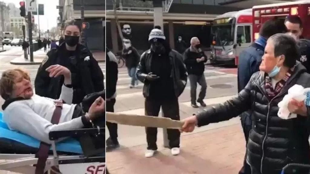 بالفيديو/ حاول الإعتداء عليها.. عجوز تضرب رجلًا هجم عليها فجأة في الشارع وترسله إلى المستشفى!