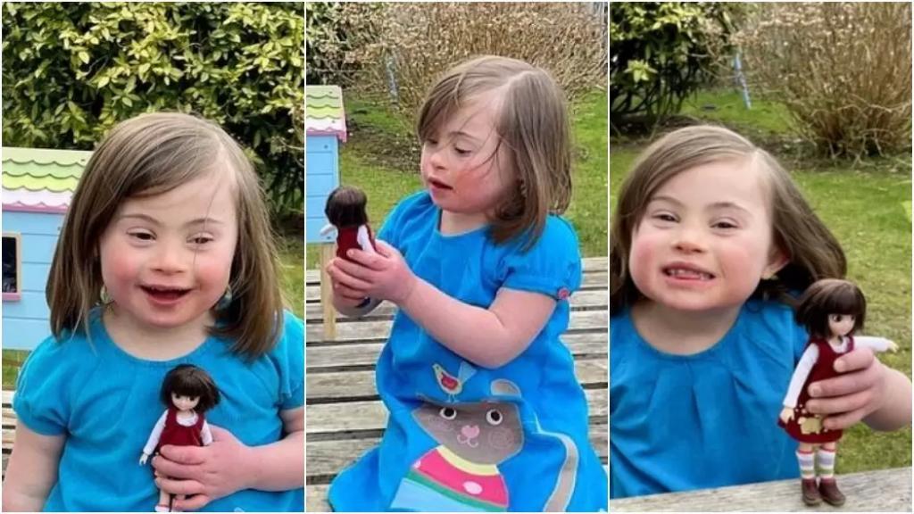 طفلة مصابة بمتلازمة داون ألهمت شركة كبيرة.. أطلقوا دمية جديدة تشبهها!