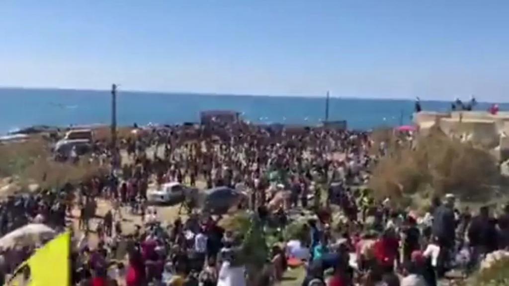 بالفيديو/الأكراد يحتفلون بعيد النوروز على شاطئ بيروت