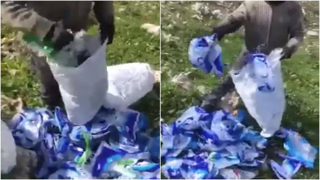 فيديو من بلدة سحمر البقاعية.. العثور على أكياس الأرز والسكر المدعومة مرمية على الطريق بعد إفراغها!
