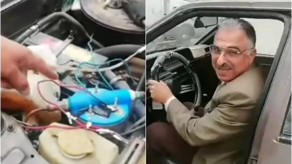 """بالفيديو/ سيارة تعمل على الماء باستخدام جهاز صناعته """"سورية"""" تسير في شوارع اللاذقية !"""