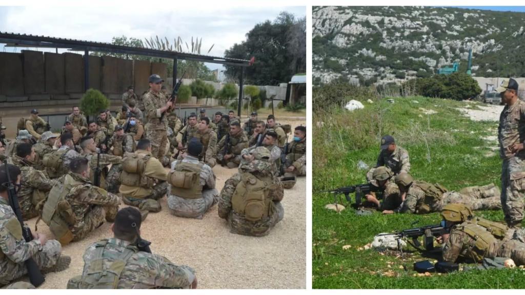 بالصور/  بإشراف فريق تدريب أميركي...دورة تدريبية لعناصر من فوج التدخل الأول في الجيش