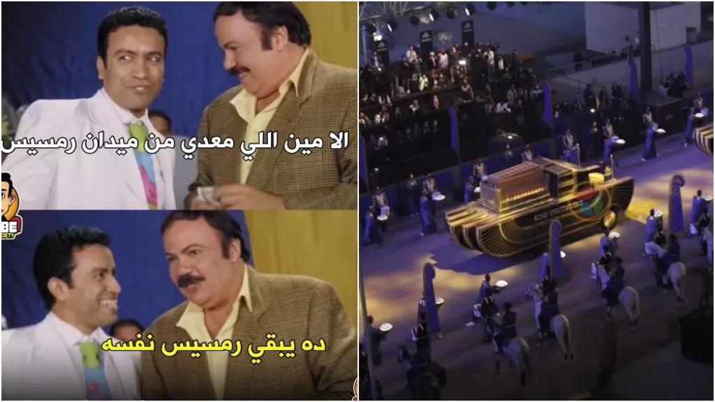 """بالصور/ """"خفّة دم"""" المصريّين لم تغب عن الحدث التاريخي العظيم لنقل المومياوات الملكيّة!"""
