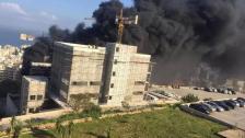 عناصر فوج إطفاء بيروت أخمدت الحريق الذي شب في أحد المباني قيد الإنشاء في معهد قوى الأمن الداخلي في عرمون واقتصرت الأضرار على الماديات