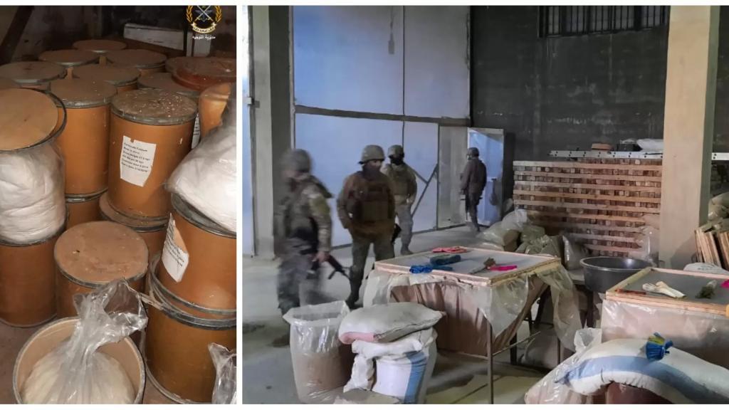 بالصور/ الجيش يدهم في الجمالية -بعلبك ويضبط مصنعاً لتصنيع المخدرات