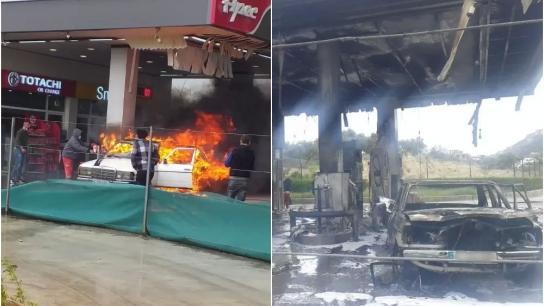 بعد احتراق سيارة داخل محطة بنزين في القلمون.. معلومات أن المواطن أحرق سيارته لأنهم رفضوا تعبئة خزانها إلا بمبلغ 15 ألف ليرة